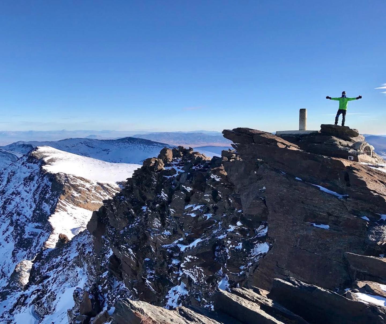 Cumbre del Mulhacen en invierno
