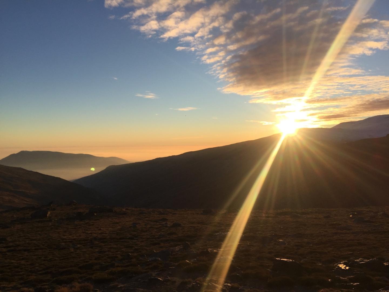 puesta de sol refugio poqueira