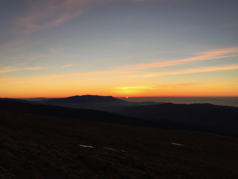 puesta de sol en el poqueira