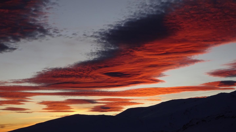 puesta de sol mulhacen